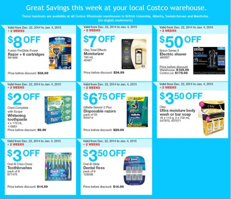 Costco Weekly Handout Instant Savings Coupons (Dec 22 - Jan 4)