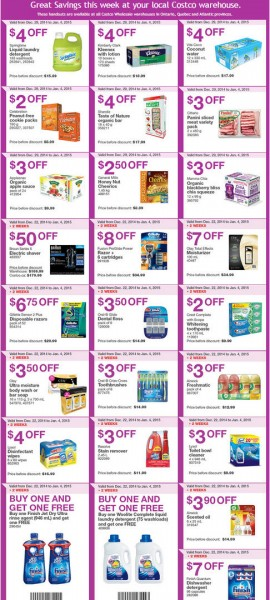 Costco Weekly Handout Instant Savings Coupons (Dec 29 - Jan 11)