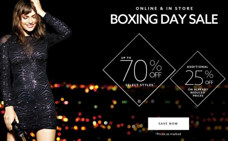 Dynamite Boxing Day Sale - Up to 70 Off Select Styles + Extra 25 Sale Styles + Free Shipping