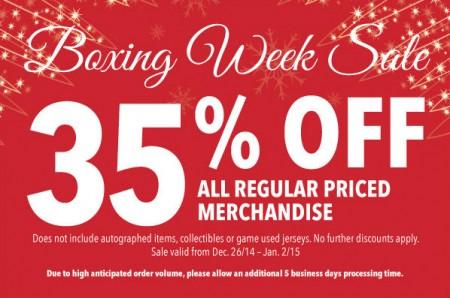 Flames FanAttic Boxing Week Sale - 35 Off All Regular Priced Merchandise (Dec 26 - Jan 2)