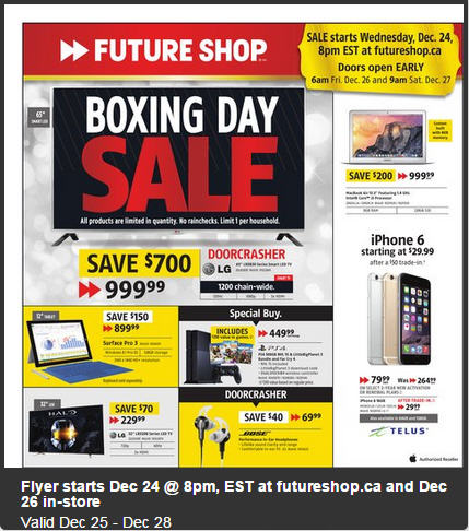 Future Shop Boxing Day Sale - Preview Flyer Now