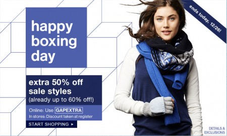 GAP 40 Off Online, Extra 50 Off Sale Styes (Dec 26)