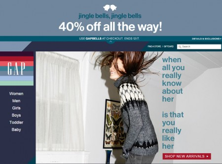 GAP 40 Off Your Purchase Promo Code (Dec 6-7)