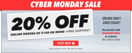 Golf Town Cyber Monday - 20 Off Online Orders over $150 + Free Shipping (Dec 1)