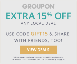 Groupon.com - Extra 15 Off Any Local Deal Promo Code (Dec 3-4)