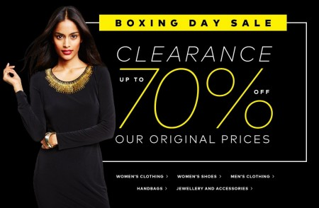 Hudson's Bay Boxing Day Sale - Save up to 70 Off