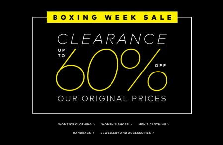 Hudson's Bay Boxing Week Sale - Save up to 60 Off