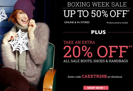 Naturalizer Boxing Week Sale - Up to 50 Off + Extra 20 Off Sale Shoes, Boots Handbags + Free Shipping (Dec 13)