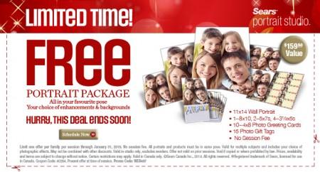 Sears Portrait Studio FREE Portrait Package with Printable Coupon - $159 Value (Until Jan 31)