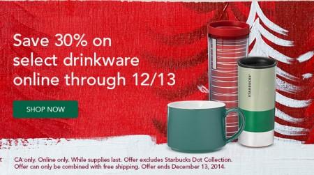 Starbucks Store 30 Off Select Drinkware Online (Dec 8-13)