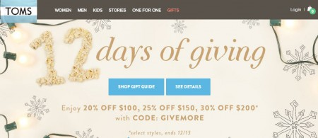 TOMS Buy More, Save More Event - Save up to 30 Off (Dec 2-13)