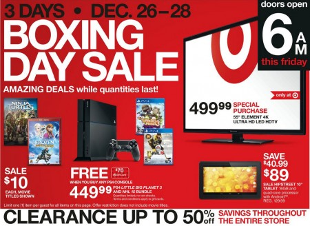 Target Canada Boxing Day Sale + Online Flyer (Dec 26-29)