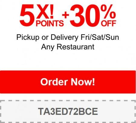 TasteAway 30 Off Restaurant Pickup or Delivery Order Promo Code (Dec 12-14)