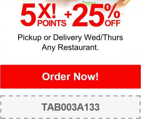 TasteAway Promo Code - 25 Off Restaurant Pickup or Delivery Orders (Dec 17-18)