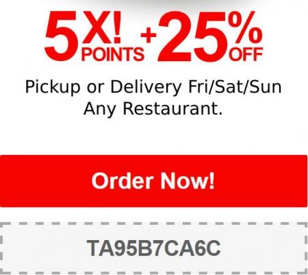TasteAway Promo Code - 25 Off Restaurant Pickup or Delivery Orders (Dec 26-28)