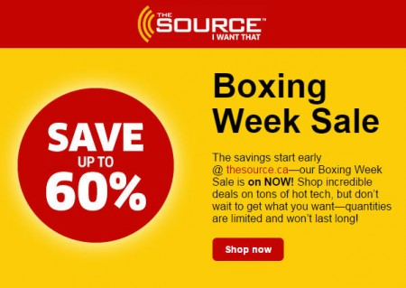 The Source Boxing Week Sale Starts Now - Save up to 60 Off (Dec 24 - Jan 7)