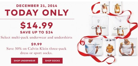 TheBay Today Only - $14.99 for Multi-Pack Underwear and Undershirts - Save up to $24 (Dec 21)