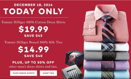 TheBay Today Only - $19.99 for Tommy Hilfiger Dress Shirts - Save $45 (Dec 18)