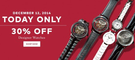 TheBay Today Only - 30 Off Designer Watches (Dec 12)