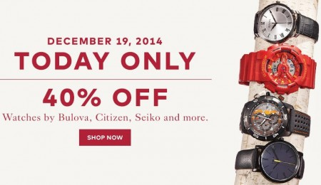 TheBay Today Only - 40 Off Watches by Bulova, Citizen, Seiko and more (Dec 19)