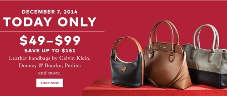 TheBay Today Only - $49-$99 for Leather Handbags - Save up to $151 Off (Dec 7)