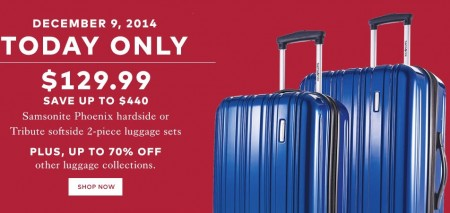 TheBay Today Only - Save up to $440 Off Samsonite 2-Piece Luggage Set - Only $129.99 (Dec 9)