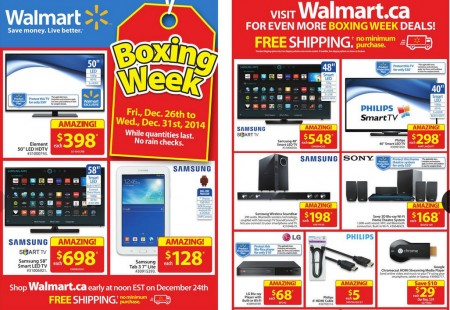 Walmart Boxing Week Sale + Online Flyer