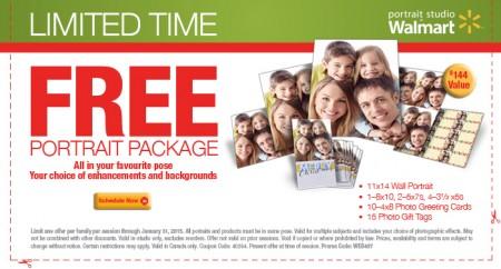 Walmart Portrait Studio FREE Portrait Package with Printable Coupon - $144 Value (Until Jan 31)