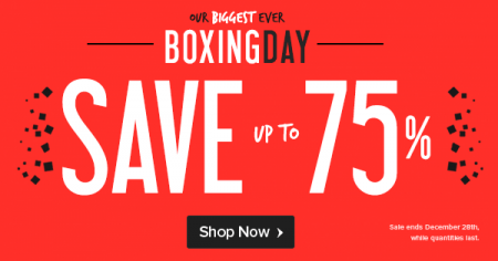 Well Boxing Day Sale - Save up to 75 Off (Dec 26-28)