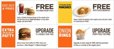 A&W Canada New Printable Coupons (Jan 26 - Feb 8)