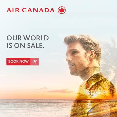 Air Canada Worldwide Seat Sale (Book by Jan 12)