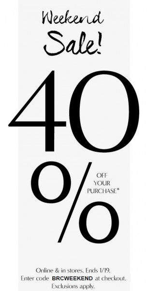 Banana Republic 40 Off Your Purchase In-Stores and Online (Jan 17-19)