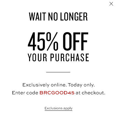 Banana Republic 45 Off Your Online Purchase (Jan 13)