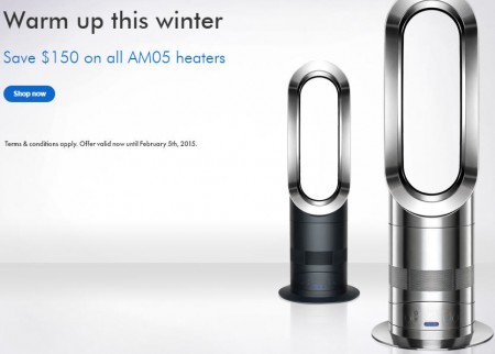 Dyson Canada Save $150 Off AM05 Hot+Cool Fan Heaters + Free Shipping (Until Feb 5)