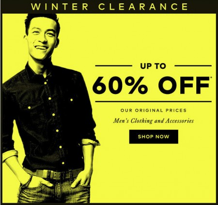 Hudson's Bay Winter Clearance - Save up to 60 Off Men's Clothing and Accessories