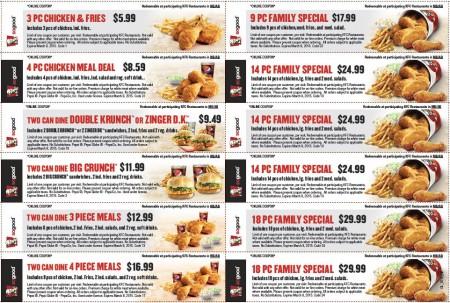 KFC New Winter Savings Coupons (Until Mar 8)