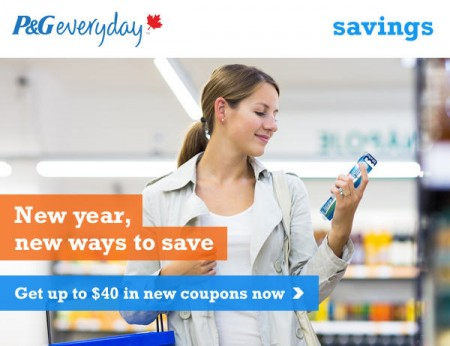 P&G Everyday Over $40 in Coupons Savings
