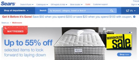 Sears Canada Huge Mattress Blowout Sale or Price Error