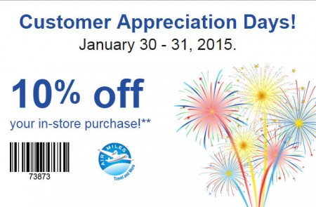 Staples Customer Appreciation Days - 10 Off Entire Purchase Coupon (Jan 30-31)
