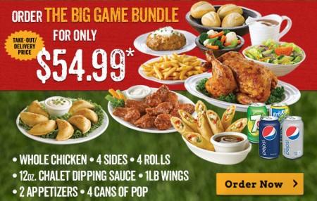 Swiss Chalet $54.99 Super Bowl Bundle Deal