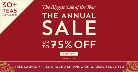 Teavana The Annual Sale - Up to 75 Off on 100+ Items
