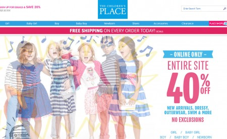 The Children's Place 40 Off Entire Site + Free Shipping on All Orders