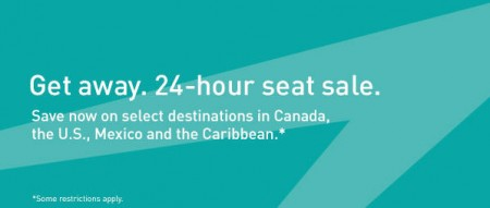 WestJet 24 Hour Seat Sale (Jan 22)