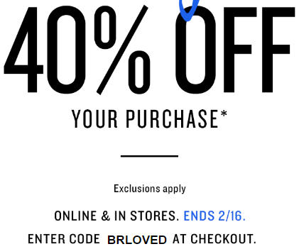 Banana Republic Long Weekend Sale - 40 Off Your Purchase In-Stores and Online (Feb 13-16)