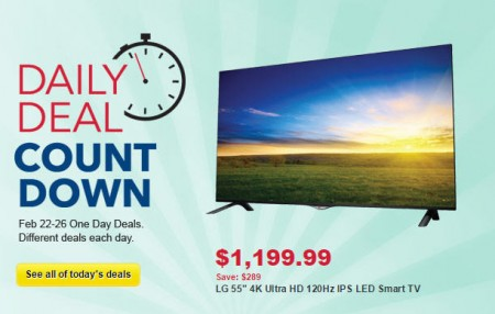 Best Buy Daily Deal Count Down (Feb 22-26)