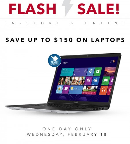 Best Buy Flash Sale - Save up to $150 on Laptops (Feb 18)