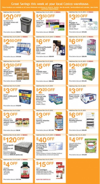 Costco Weekly Handout Instant Savings Coupons EAST (Feb 9-15)