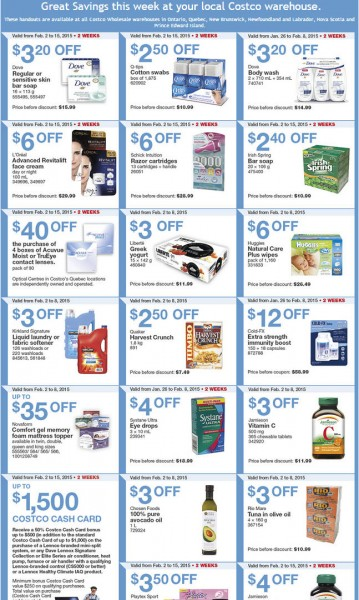 Costco Weekly Handout Instant Savings Coupons East (Feb 2-8)