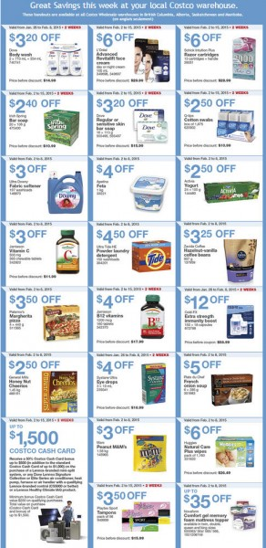 Costco Weekly Handout Instant Savings Coupons (Feb 2-8)