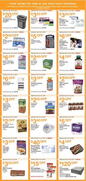Costco Weekly Handout Instant Savings Coupons (Feb 9-15)